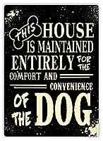 この家は犬のためです 金属板ブリキ看板警告サイン注意サイン表示パネル情報サイン金属安全サイン