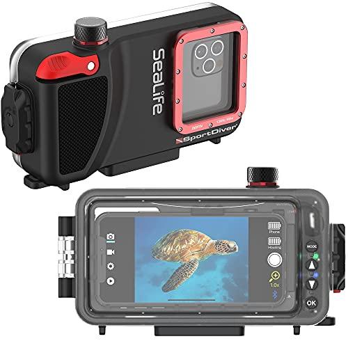 Underwater Smartphone SeaLife Scuba Case – Waterproof Photography, Access Camera Controls, Leak Alarms
