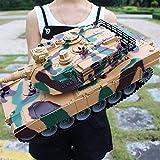 MUZoo.RC Car Fuera de la carretera rpida grande RC tanque de juguete 2,4 GHz radio control remoto Vehculo Blindado Militar Fighting torreta giratoria Luz Msica Modelo RC todoterreno orugas Tipo tel