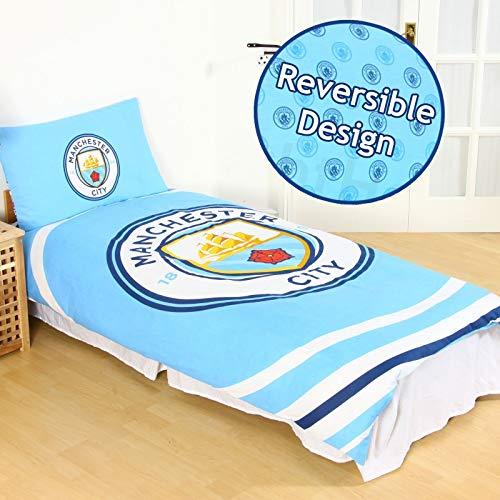 OFFICIAL MANCHESTER CITY Duvet Quilt Cover Bedding SET MAN CITY FOOTBALL BOY KID