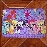 Vscdye My Little Pony Rainbow Horse Tappetino Tappeto Decor Camera Zerbino Anime Manga Tappeti Antiscivolo120X160Cm