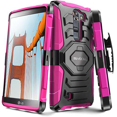 Evocel New Generation Series Phone Case Compatible with LG K7, LG Tribute 5, LG Escape 3, LG K8 with Belt Clip Holster and Kickstand, Pink