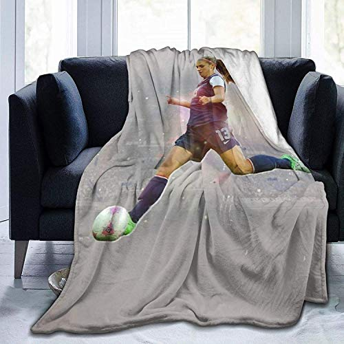KINKA Alex Morgan Super Soft Sheep Blanket, Suitable for Adults Or Children's Sofa Or Bed 80'x60' Queen Size