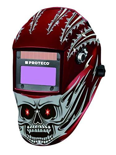 Proteco-Werkzeug® P810E Automatik Schweißhelm inkl 10 Ersatzgläser Schweisshelm Automatikhelm Optische Klasse 1/1/1/1 - viermal Bestwerte