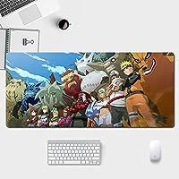 ゲーミングマウスパッド、大型マウスパッド、ラップトップコンピューター、デスクトップコンピューター専用Na-Rutoキーボードシームオフィスに最適なマウスパッドです--anime-A_300*800*3MM