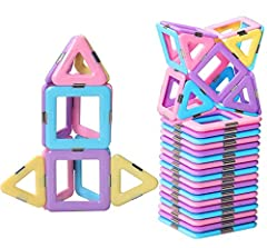 This blocks toys set covers many shapes,can be combined into many patterns, animals, houses, planes etc, develop kids' imagination, creativity and mind. Total 30 pieces, Triangular and Square. 12 * Square and 18 * Triangle. Learn while play. Differen...