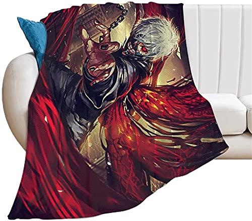 Tokyo Ghoul - Manta de anime, ligera y cómoda, ropa de cama, textiles para el hogar, manta para sofá (Ghoul4, 100 x 150 cm)