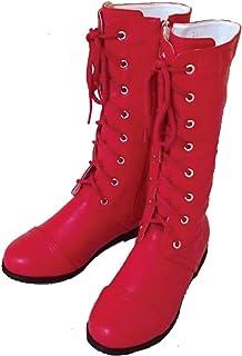 [天使のドレス屋さん] 編み上げ ハーフ ブーツ 子供 大人 靴 女の子 キッズ ブーツ ダンス 編み上げブーツ コスチューム 七五三 袴 入学式 撮影会 ダンス衣装 子供 こども 衣装 208-8