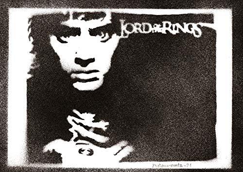 Poster Frodo Baggins Il Signore degli Anelli The Lord of the Rings Handmade Graffiti Street Art - Artwork