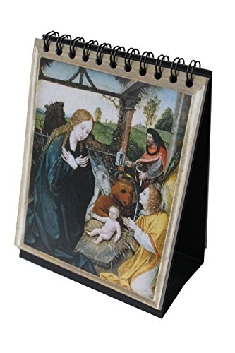 "Sacred Art Series Small Rosary Flip Book (4"" x 5"") with Desktop Easel"