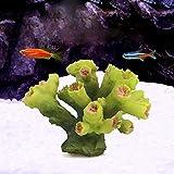 NIUBICRE Acuario Resina Decorativa Coral Utilizado para la Decoración de Tanques de Pescado Marino Paisaje Grupo Coral (Coral Verde)