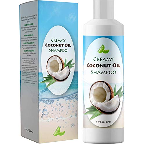 Coconut Oil Shampoo for Hair Growth - Hair Regrowth Treatment for Men and Women - Best Sulfate Free Moisturizing Shampoo - Safe for Color Treated Hair - Nourishing Hair and Scalp Treatment