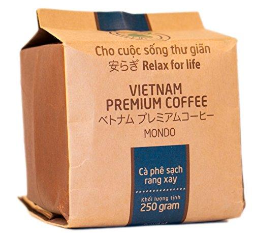 VietBeans - Hello5 Mondo gemahlener Röstkaffee – Zwei Sorten Arabica – Organisch angebauter vietnamesischer Kaffee – Mildes und edles Aroma - 250g