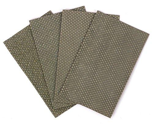Z-Lion Diamond Abrasive Paper Sheets Diamond Sandpaper for Sanding Stone Glass Ceramic(4pcs/set)