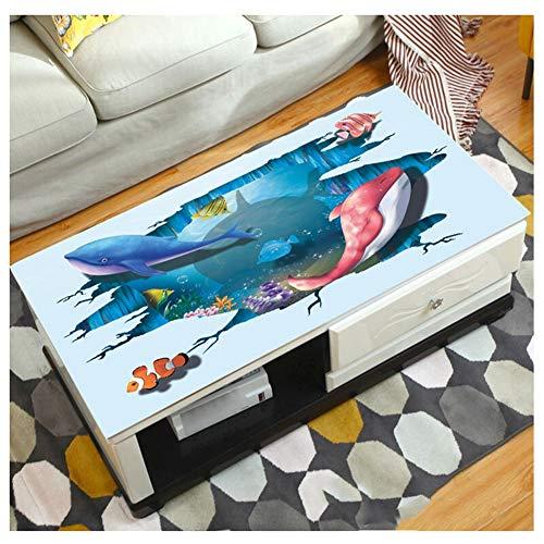 MAI&BAO Nappe Table Protection PVC 1.5mm Lavable Imperméable Anti Tache l'huile Modèle Dessin animé 3D Toile cirée Kitchen Picnic intérieur extérieur Home Jardin,B,85x135cm(33x53inch)
