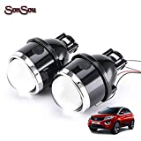 SONSOU BI-XENON FOG LAMP PROJECTOR WITH 55W H8/11 BULB HID BALLAST 55W FOR CARS WITH ROUND FOG LAMP