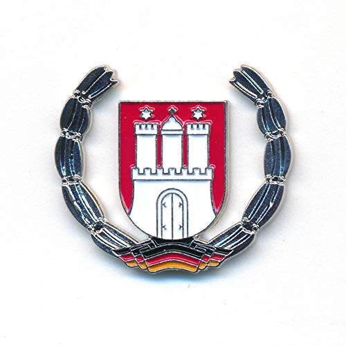 hegibaer Hansestadt Hamburg Wappen Elbe Hafen HH Deutschland Badge Pin Anstecker 0920