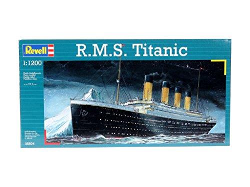 Revell RV05804 Modellbausatz Schiff 1:1200 - R.M.S. Titanic im Maßstab 1:1200, Level 3, originalgetreue Nachbildung mit vielen Details, Kreuzfahrtschiff, 05804