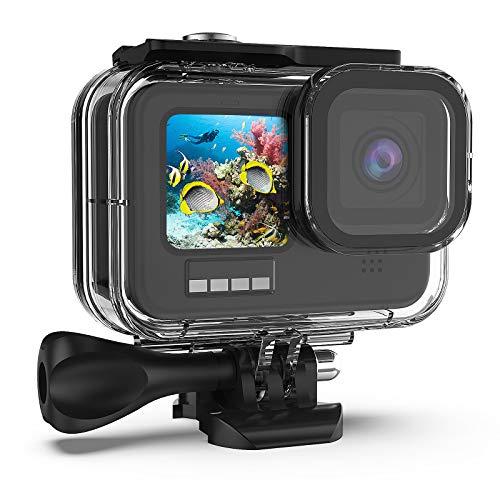 Wasserdichtes Gehäuse für GoPro Hero 10Black/Hero 9, 60 m/196 ft Unterwasser-Schutzhülle für Tauchergehäuse mit Halterungszubehör für GoPro 10Black/GoPro 9