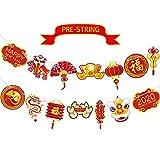 Chinesisch Neujahr Flagge Banner, Jahr der Ratte Girlande Neujahr China Party Bunting Chinesisch Neujahr Zeichen Banner Party Tisch Hintergr& Foto Stand Requisiten für Party Dekoration
