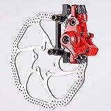 Bicicleta de Frenos 1 Juego De Discos De Freno Delantero De Disco Trasero del Rotor Mecánico Kit De Freno For La Bicicleta De Montaña Bicicleta De Carretera (Color : Red 1 Set of)