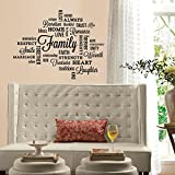 RoomMates RMK2741SCS Family Quote Peel And Stick Wall Decals,Multicolor