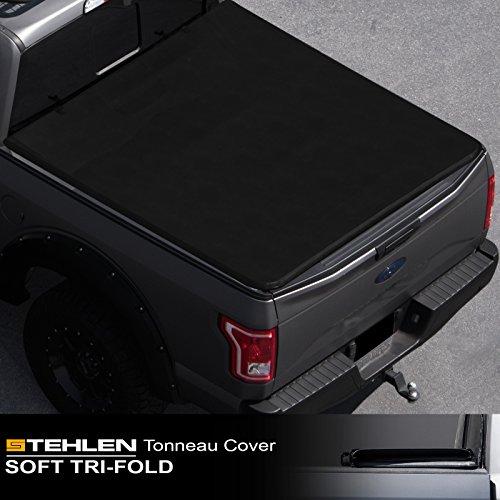 Stehlen 714937189140 Soft Tri-Fold Tonneau Cover - Black For 2004-2014 Ford F150...