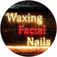 Waxing Facial Nails Beauty Salon Dual Color LED看板 ネオンプレート サイン 標識 赤色 + 黄色 600 x 400mm st6s64-m0114-ry