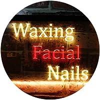Waxing Facial Nails Beauty Salon Dual Color LED看板 ネオンプレート サイン 標識 赤色 + 黄色 300 x 210mm st6s32-m0114-ry
