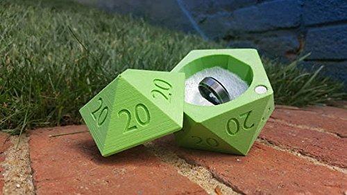 3D Printed D20 Dice Box, Ring BoxALL 20s