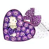 Frcolor 20 Flore Parfumé Savon de Bain Rose Fleur Petit Ours Savon Bouquet de...