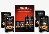 Mio-Olio 04110 Rezeptbuch & 20 Knoblauch-Öl & 20 Scharfes Chili-Öl | Zum Würzen von...