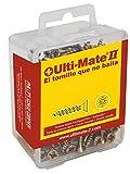 Ulti-Mate II S35030L Caja grande con tornillos de alto rendimiento para madera acabado BICROMATADO de 3,5 x 30 mm, Negro, Set de 100 Piezas