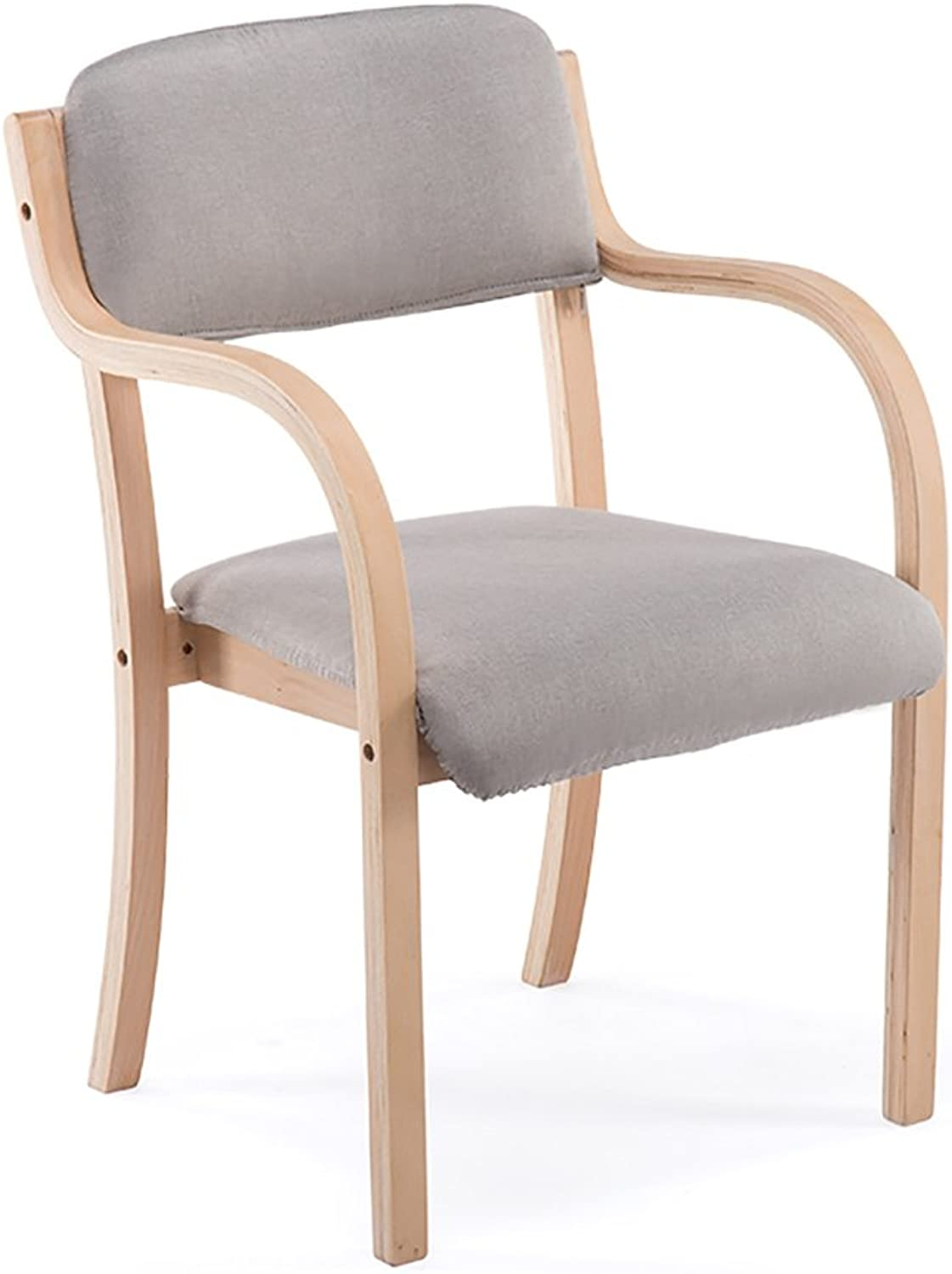 Xiao Mi Guo Ji- Chair-Simple Atmosphere, Sleek Minimalist Wooden Chair, Living Room, Bedroom, Dining Room, Creative Breathable Cotton Chair (Size 48X52X64 cm) Home Chair