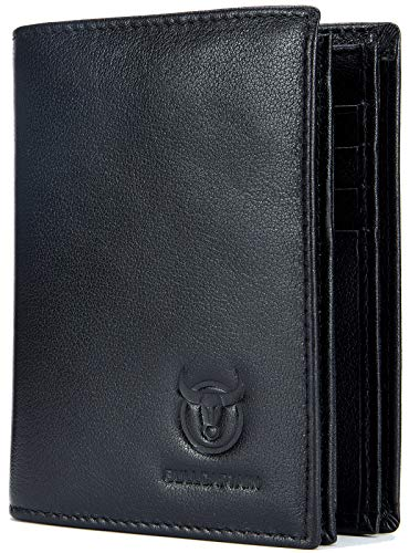 Leather Men Wallet,Genuine Leather RFID Blocking Bifold Wallets with ID Window 1