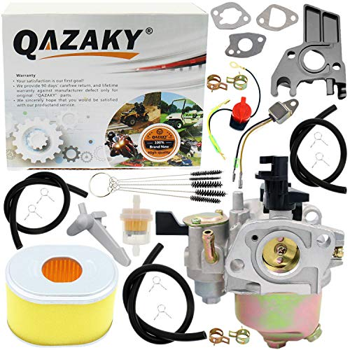 QAZAKY Carburetor Air Filter Kit Replacement for Harbor Freight Predator 212cc 6.5hp Go Kart OHV Engine R210 68121 69727 68120 69730 Homelite Pressure Washer 179cc 180cc DJ165F 2700PSI 2.3GPM UT80522D