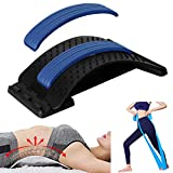 Back Stretcher, Lumber Support Lower and Upper Back Pain Relief Device, Back Stretcher for Herniated Disc, Sciatica, Scoliosis, Spine Deck on Bed Chair Car