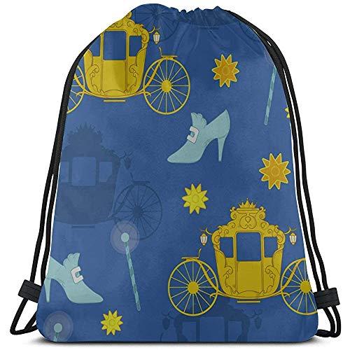 BOUIA Catroon interessante kinderwagen, zak, gym, polyester, heren, trekkoord, trekkoord, voor gym, reizen