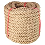 Manila Rope- (1 Inch x 100 Feet), for Landscaping, Crafts, Sporting,Marine, Projects and Tie-Downs