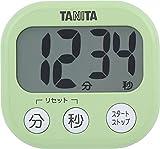 タニタ キッチン タイマー マグネット付き 大画面 100分 グリーン TD-384 GR でか見えタイマー