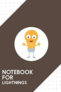 Notebook for Lightnings: Dotted Journal with Friendly light bulb happy Design - Cool Gift for a friend or family who loves energy presents!   6x9