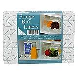 Envision Home 529401 12' x 24'-Slate Leaf Print, 6pk Fridge Bin Liners, 6