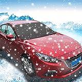 Copertura per parabrezza auto, SUV auto magnetico parabrezza neve copertura parasole Snow Frost Freeze Protector Nero