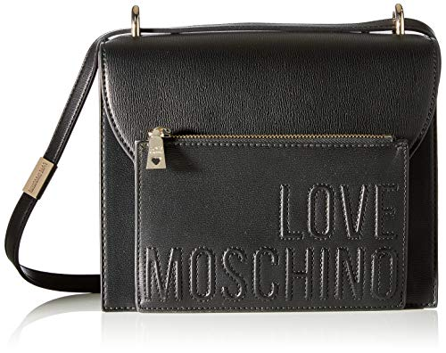 Love Moschino Damen BORSA PU MIX Damentasche, Schwarz, Normale