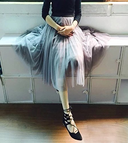 WDDBSQ Tüllrock/Petticoat/ Mesh/Party/Bankett/Party/Kleid/Elegant/Mesh/Fairy/Half Length...