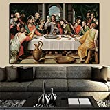 "Pintura famosa de Da Vinci ""La última cena"" Pintura en lienzo Pintura clásica Carteles e impresiones..."