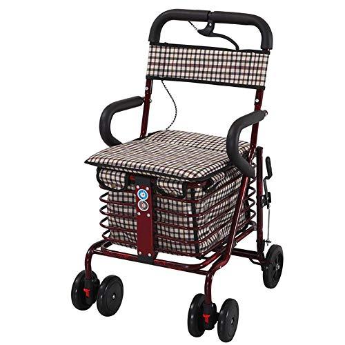 DLC Caminante de Aluminio Del Andador de la Carretilla Portátil Plegable Ligera de la Aleación de Aluminio con 6, C,una