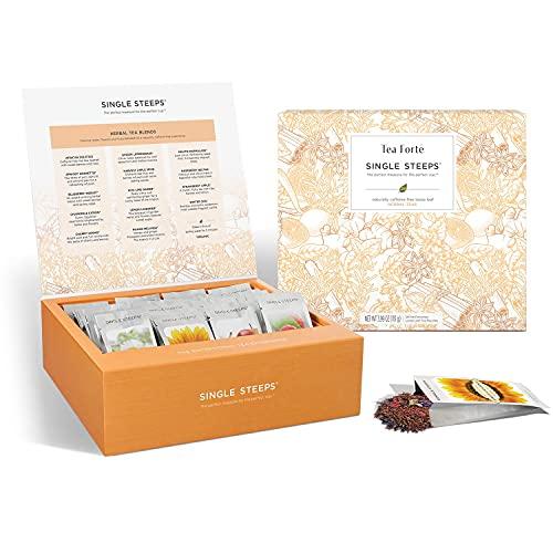 Tea Forte Tea Forté SINGLE STEEPS CASSA DI TÈ con tè in foglie, 28 bustine diverse monoporzione – Tè alle erbe