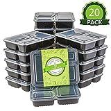 Homelody Meal Prep 20pcs Boîte Repas Boîte Alimentaire Préparation 3 Compartiments...