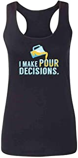 I Make Pour Decisions Beer Pitcher Funny Womens Tank Top